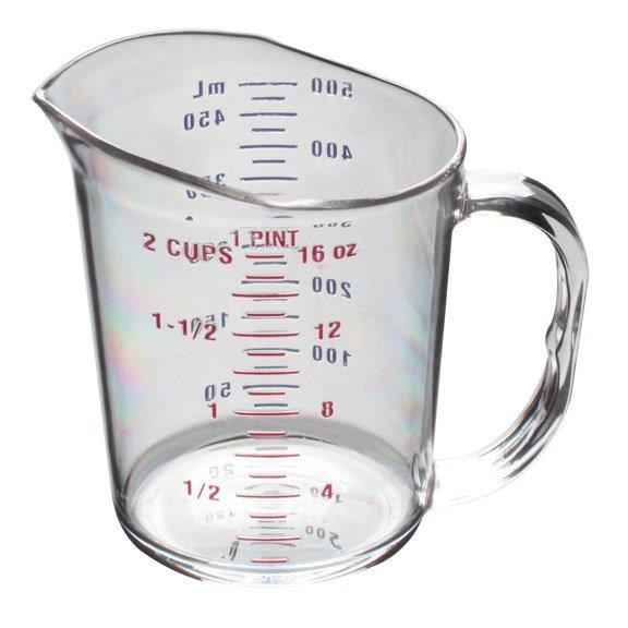 0.5Ltr / 1 pint Measuring Cup, Polycarbonate