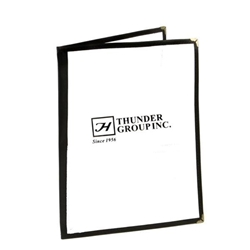 Double Fold Menu Cover, 216mm x 279mm / 8 1/2? x 11? Black