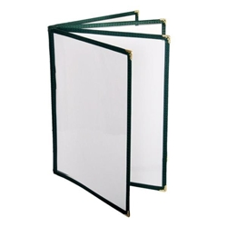 4 Page Book Fold Menu Cover, 216mm x 279mm / 8 1/2? x 11?, Green