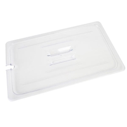 GN 1/1, Notched Slotted Cover, Clear, for Polycarbonate Gastronorm Container