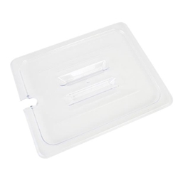 GN 1/2, Notched Slotted Cover, Clear, for Polycarbonate Gastronorm Container