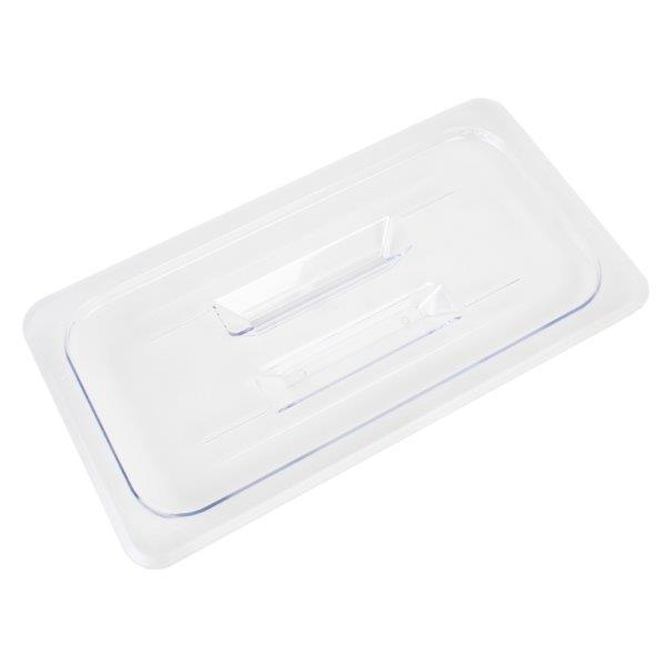 GN 1/3, Standard Solid Cover, Clear, for Polycarbonate Gastronorm Container