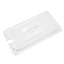 GN 1/3, Notched Slotted Cover, Clear, for Polycarbonate Gastronorm Container