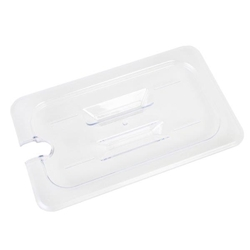 GN 1/4, Slotted Cover, Clear, for Polycarbonate Gastronorm Container