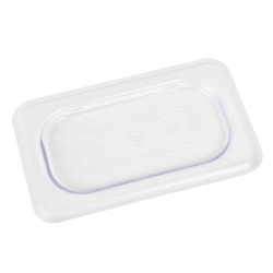 GN 1/9, Standard Solid Cover, Clear, for Polycarbonate Gastronorm Container