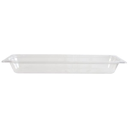 GN 2/4 65mm Deep Gastronorm Pan, Polycarbonate, Clear