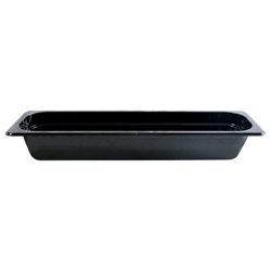 GN 2/4 65mm Deep Gastronorm Pan, Polycarbonate, Black