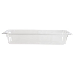 GN 2/4 100mm Deep Gastronorm Pan, Polycarbonate, Clear