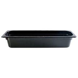 GN 2/4 100mm Deep Gastronorm Pan, Polycarbonate, Black