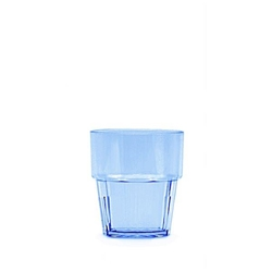240ml / 8 oz Diamond Rock Glass, Blue (12 Pack)