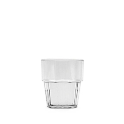 240ml / 8 oz Diamond Rock Glass, Clear (12 Pack)