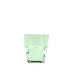240ml / 8 oz Diamond Rock Glass, Green (12 Pack)