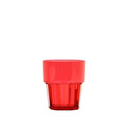 240ml / 8 oz Diamond Rock Glass, Red (12 Pack)