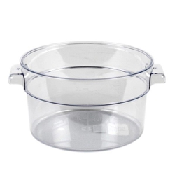 1.9Ltr / 2 qt Clear Round Food Storage Container, Polycarbonate