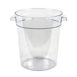 3.8Ltr / 4 qt Clear Round Food Storage Container, Polycarbonate