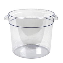 5.7Ltr / 6 qt Clear Round Food Storage Container, Polycarbonate