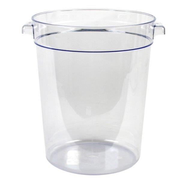 7.6Ltr / 8 qt Clear Round Food Storage Container, Polycarbonate