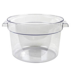 11.4Ltr / 12 qt Clear Round Food Storage Container, Polycarbonate