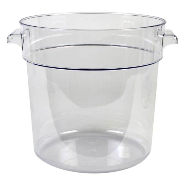 17Ltr / 18 qt Clear Round Food Storage Container, Polycarbonate
