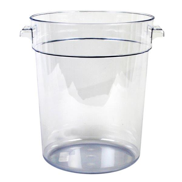 20.8Ltr / 22 qt Clear Round Food Storage Container, Polycarbonate
