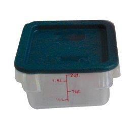 1.9Ltr / 2 qt (200mm x 181mm x 97mm) Square Food Storage Container, Polycarbonate
