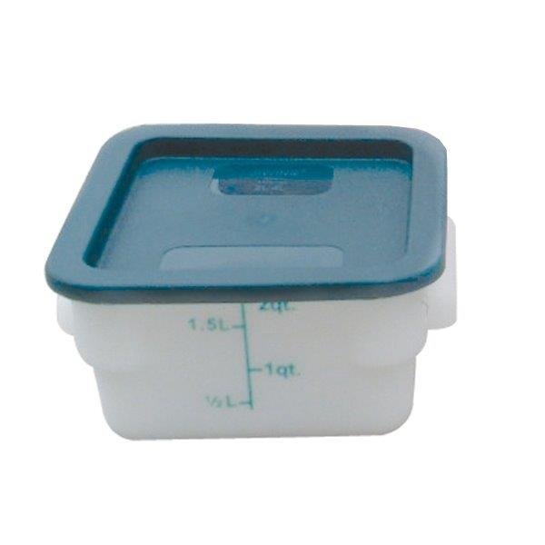 1.9Ltr / 2 qt (200mm x 181mm x 97mm) Square Food Storage Container, Polypropylene