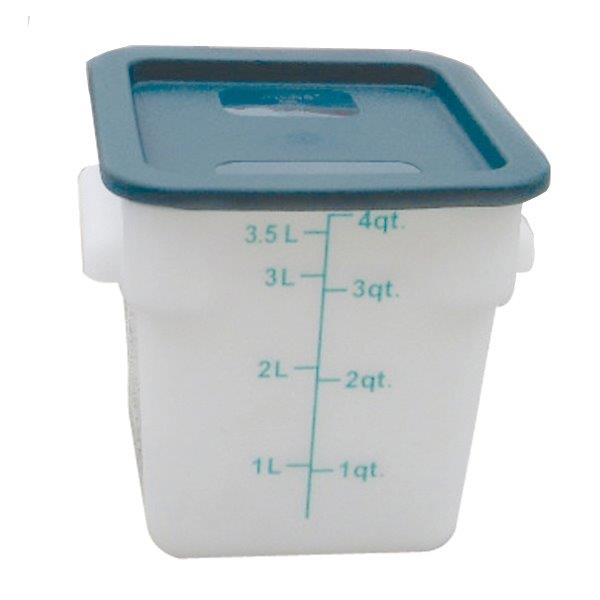 3.8Ltr / 4 qt (203mm x 181mm x 194mm) Square Food Storage Container, Polypropylene