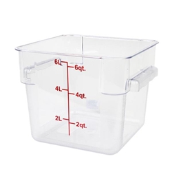 5.7Ltr / 6 qt (244mm x 225mm x 184mm) Square Food Storage Container, Polycarbonate
