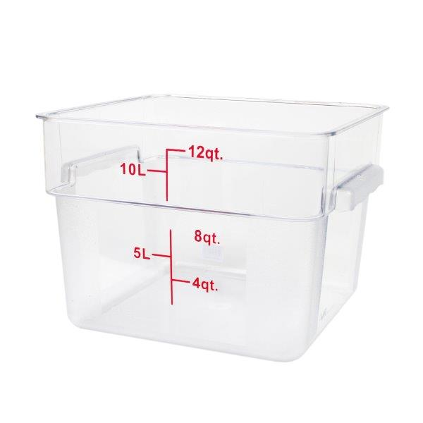 11.4Ltr / 12 qt (292mm x 279mm x 210mm) Square Food Storage Container, Polycarbonate