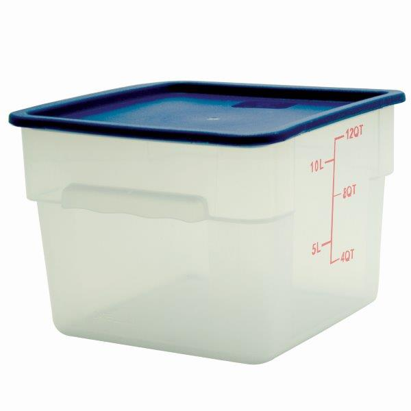 11.4Ltr / 12 qt (292mm x 279mm x 210mm) Square Food Storage Container, Polypropylene