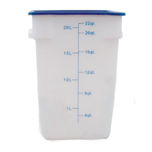 20.8Ltr / 22 qt (308mm x 283mm x 397mm) Square Food Storage Container, Polypropylene