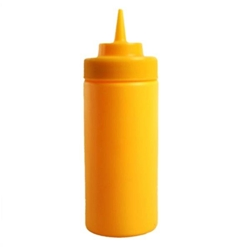 475ml / 16 oz Wide-Mouth Squeeze Bottle, Yellow (6pk)