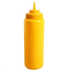945ml / 32 oz Wide-Mouth Squeeze Bottle, Yellow (6pk)