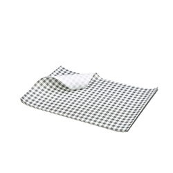 Greaseproof Paper Gingham Print Black 25X20cm (Each) Greaseproof, Paper, Gingham, Print, Black, 25X20cm, Nevilles