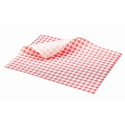 Greaseproof Paper Gingham Print Red 25X20cm (Each) Greaseproof, Paper, Gingham, Print, Red, 25X20cm, Nevilles