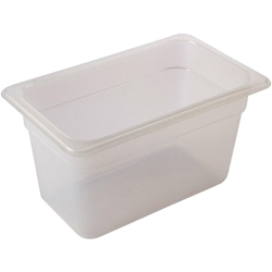 1/4 -Polypropylene GN Pan 150mm Clear (Each) 1/4, -Polypropylene, GN, Pan, 150mm, Clear, Nevilles