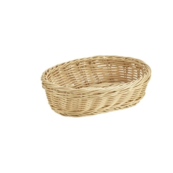Oval Polywicker Basket 22.5 x 15.5 x 6.5cm (Each) Oval, Polywicker, Basket, 22.5, 15.5, 6.5cm, Nevilles