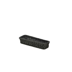 Polywicker Display Basket Black 32X11X5.5cm (Each) Polywicker, Display, Basket, Black, 32X11X5.5cm, Nevilles