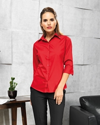 Womens 3 quarter sleeve poplin blouse
