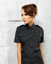 Womens short sleeve pilot blouse