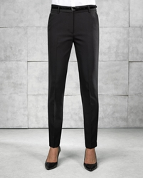 Womens tapered fit polyester trousers