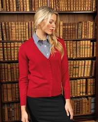 Womens button through knitted cardigan