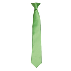 Colours satin clip tie