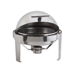 Round Deluxe Roll Top Chafer 6L (Each) Round, Deluxe, Roll, Top, Chafer, 6L, Nevilles