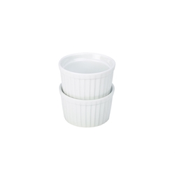 6.5cm Stacking Ramekin - White (12 Pack) 6.5cm, Stacking, Ramekin, White, Nevilles