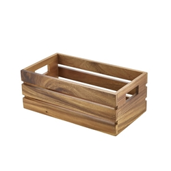 Acacia Wood Box/Riser GN 1/3 (Each) Acacia, Wood, Box/Riser, GN, 1/3, Nevilles