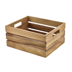 Acacia Wood Box/Riser GN 1/2 (Each) Acacia, Wood, Box/Riser, GN, 1/2, Nevilles