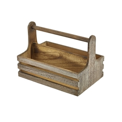 Rustic Wooden Table Caddy (Each) Rustic, Wooden, Table, Caddy, Nevilles