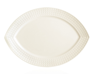 "Satinique Oval Plate 13.8"" 35cm (8 Pack) Satinique, Oval, Plate, 13.8"", 35cm"