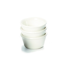 Ramekin 3oz Fluted White 81 x 36mm (48 Pack) Ramekin, 3oz, Fluted, White, 81, 36mm, Nevilles